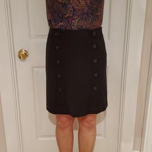 Ann Taylor black button down skirt size 6P